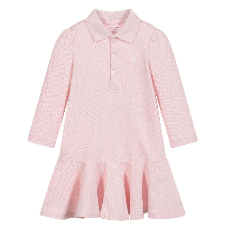 Afbeelding van Ralph Lauren 310800655 babyjurkje licht roze