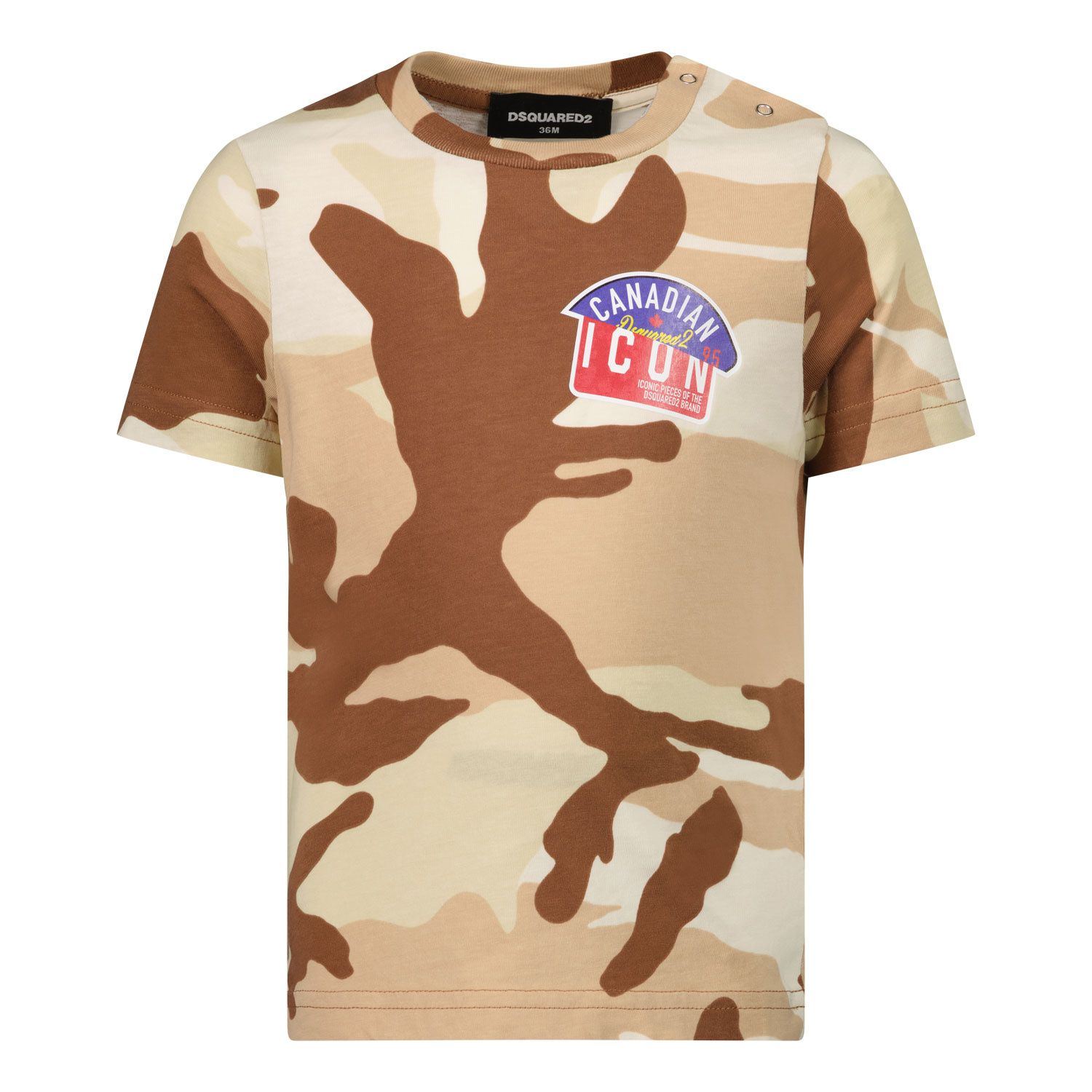 Picture of Dsquared2 DQ0254 baby shirt army