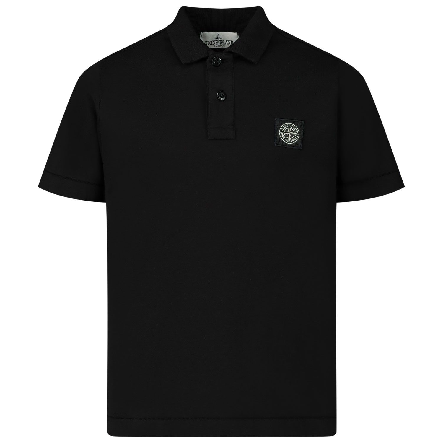 Picture of Stone Island 721620247 kids polo shirt black
