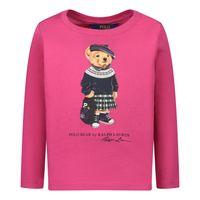 Picture of Ralph Lauren 809577 kids shirt fuchsia