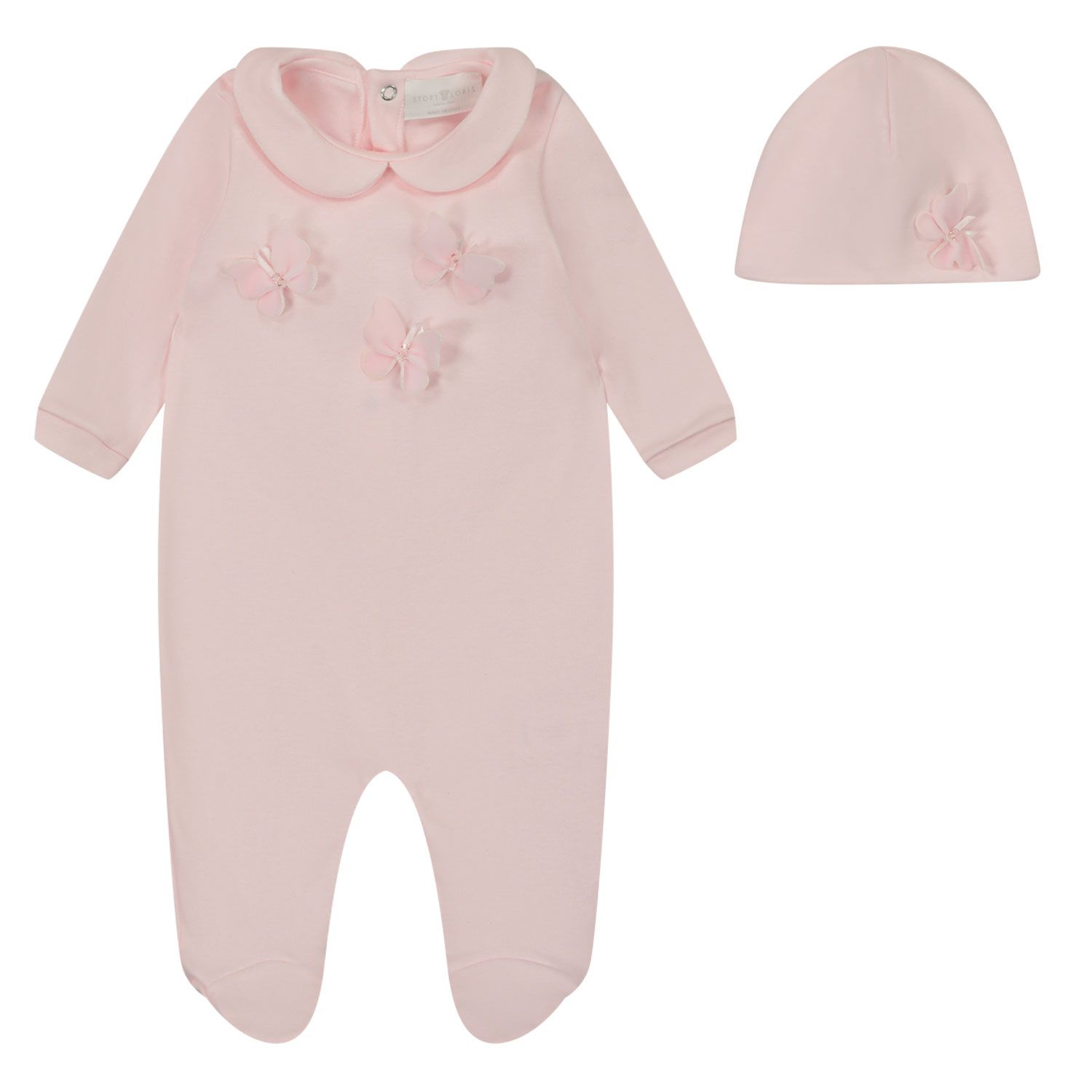 Picture of Story Loris 24225 baby playsuit light pink