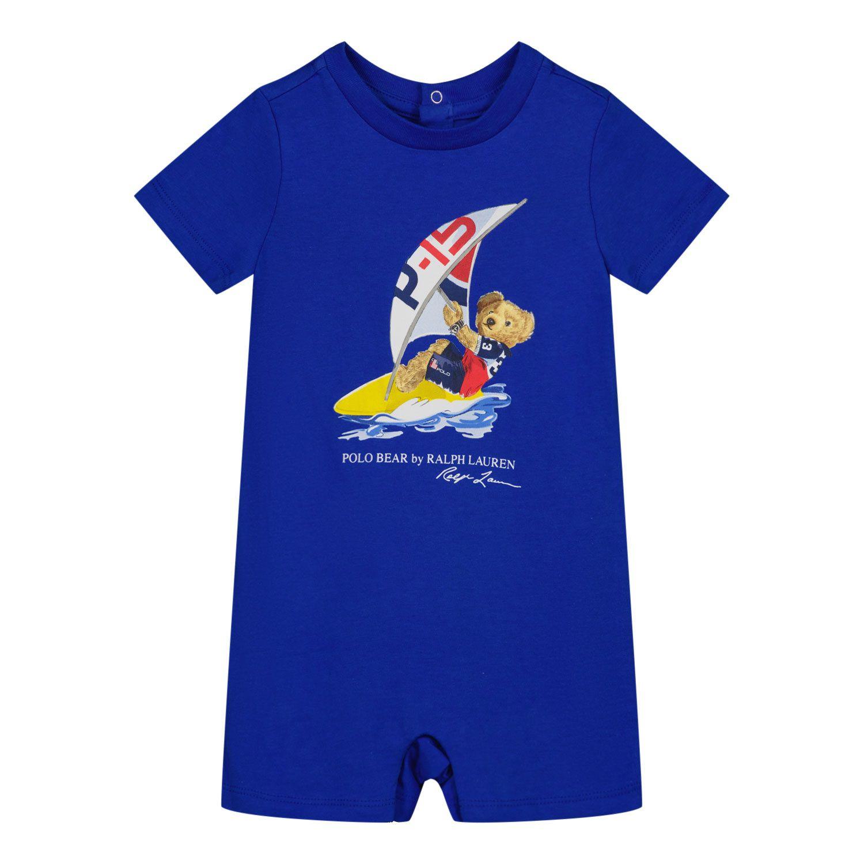 Picture of Ralph Lauren 320839087 baby playsuit blue