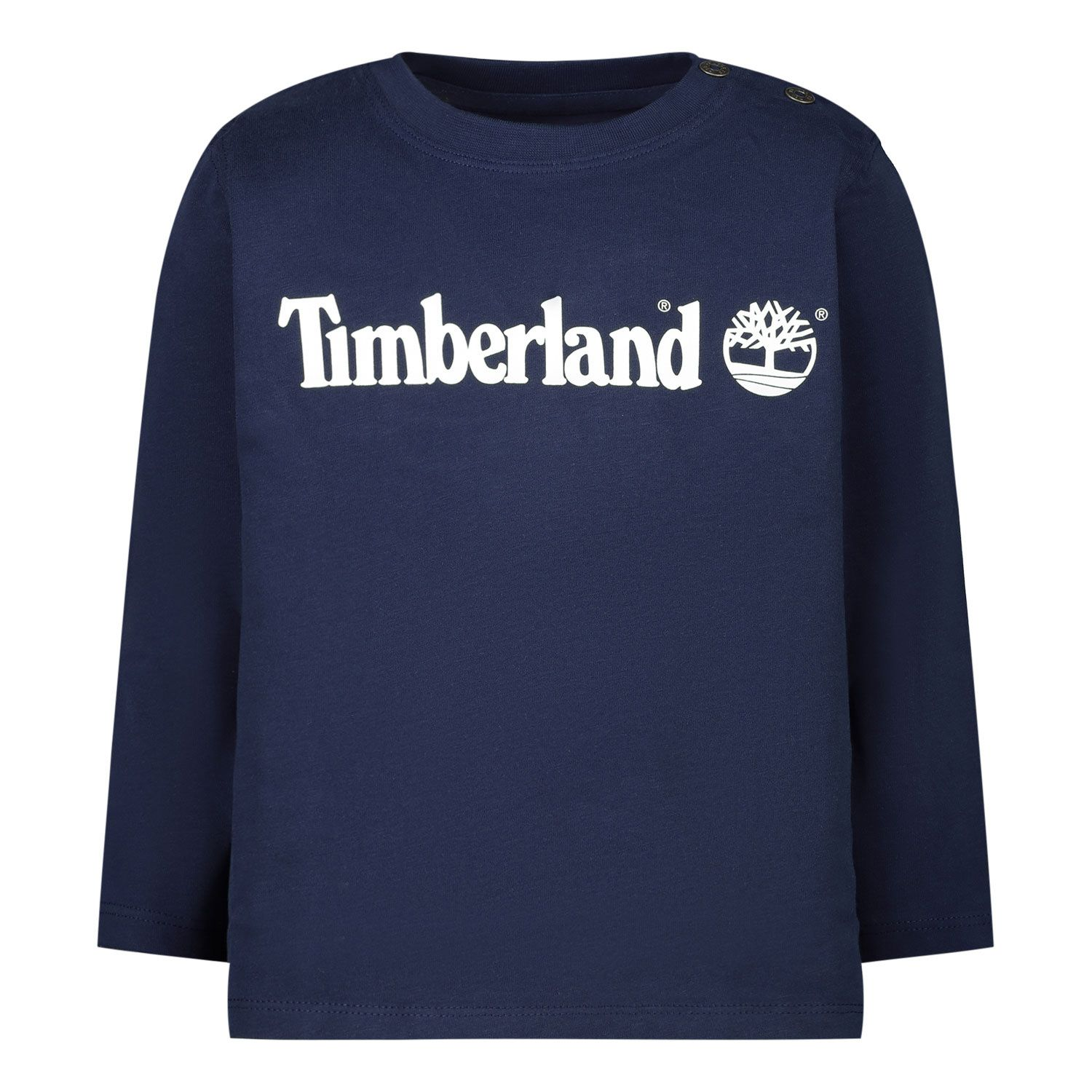 Picture of Timberland T05J76 baby shirt navy