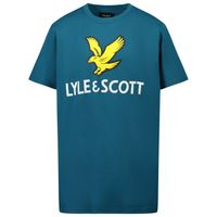 Picture of Lyle & Scott LSC0815 kids t-shirt petrol