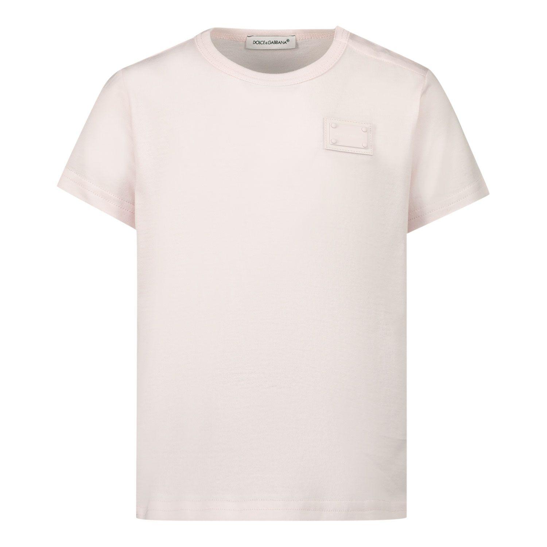 Bild von Dolce & Gabbana L1JT7T G7OLK Baby-T-Shirt Hellrosa
