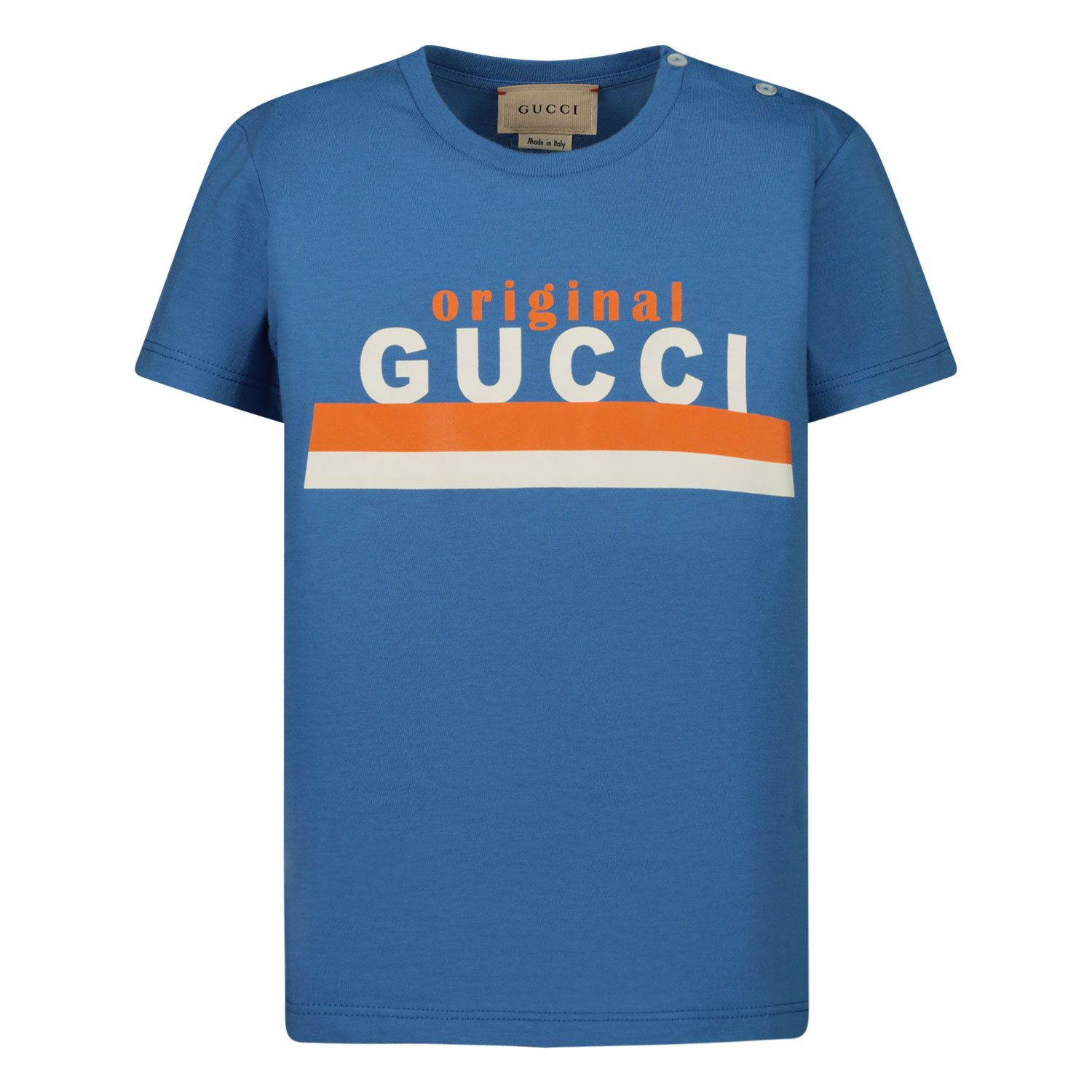 Picture of Gucci 548034 XJC7M baby shirt blue