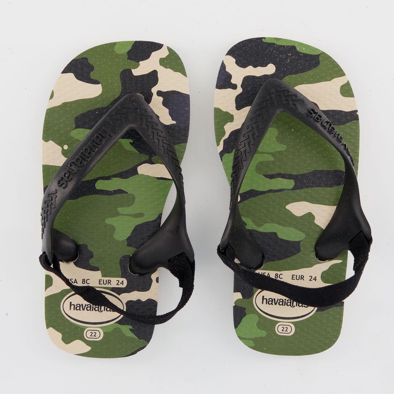 Afbeelding van Havaianas 4137067 J kinderslippers zwart/army