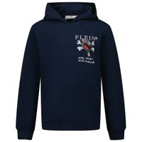 Picture of Philipp Plein BJB0428 kids sweater blue