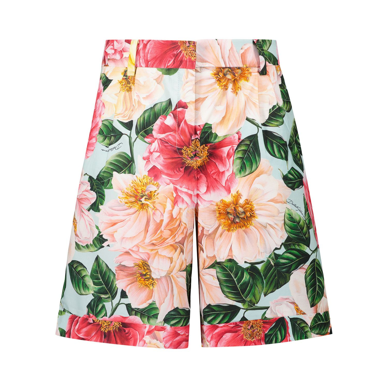 Picture of Dolce & Gabbana L52Q51 HS5H5 kids shorts pink