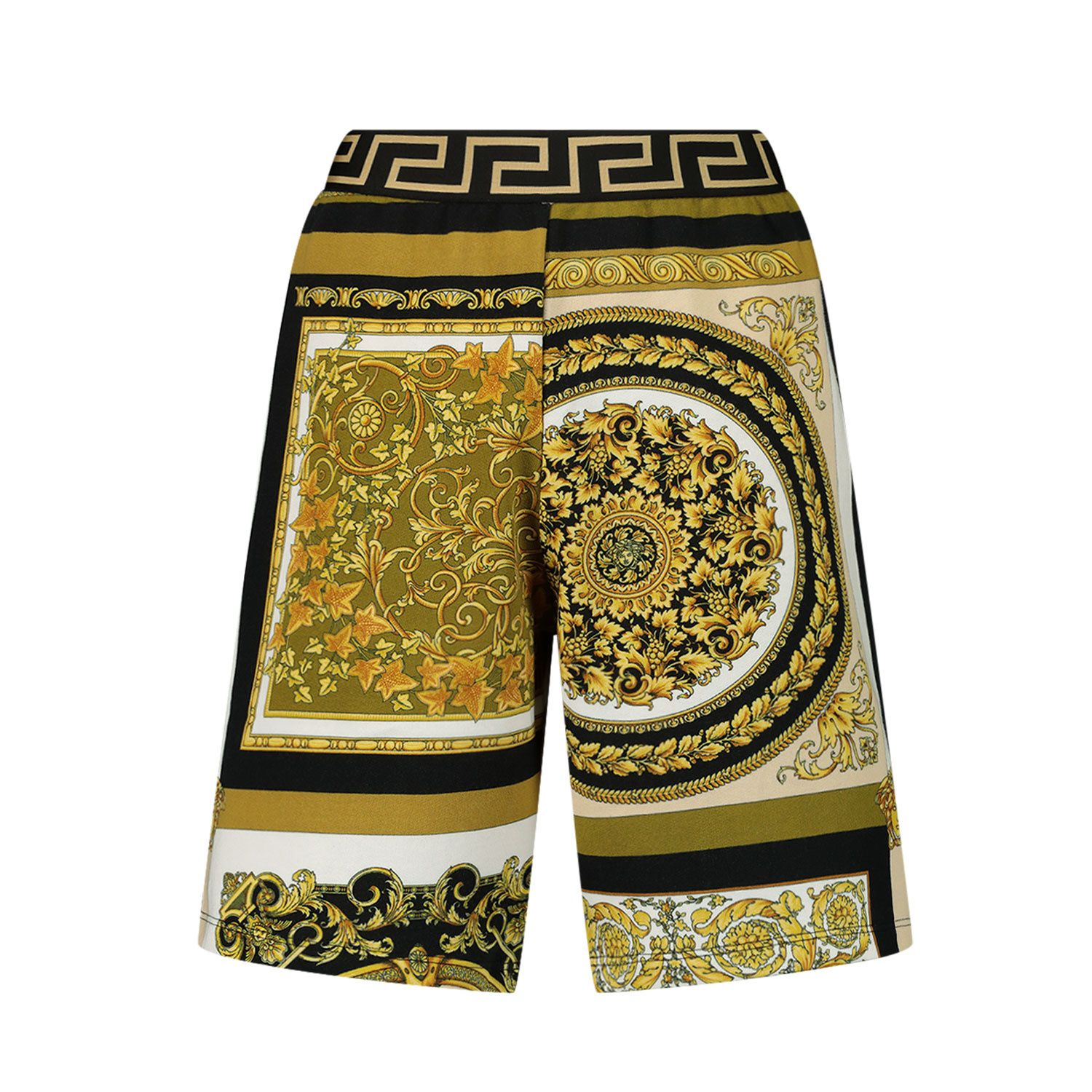 Picture of Versace 1000124 1A00265 kids shorts gold