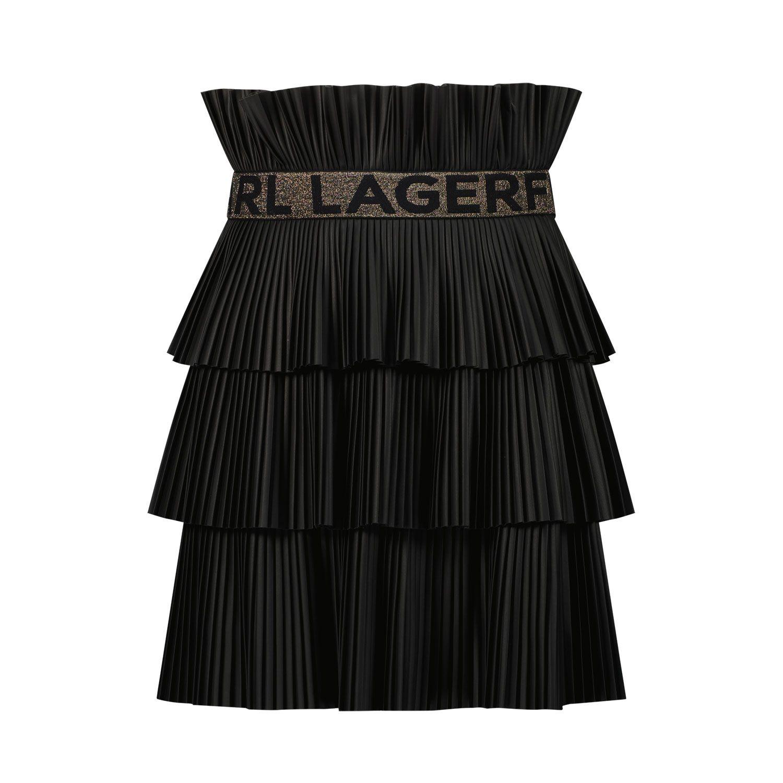 Picture of Karl Lagerfeld Z13077 kids skirt black