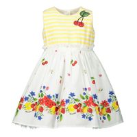 Picture of MonnaLisa 315921 baby dress yellow