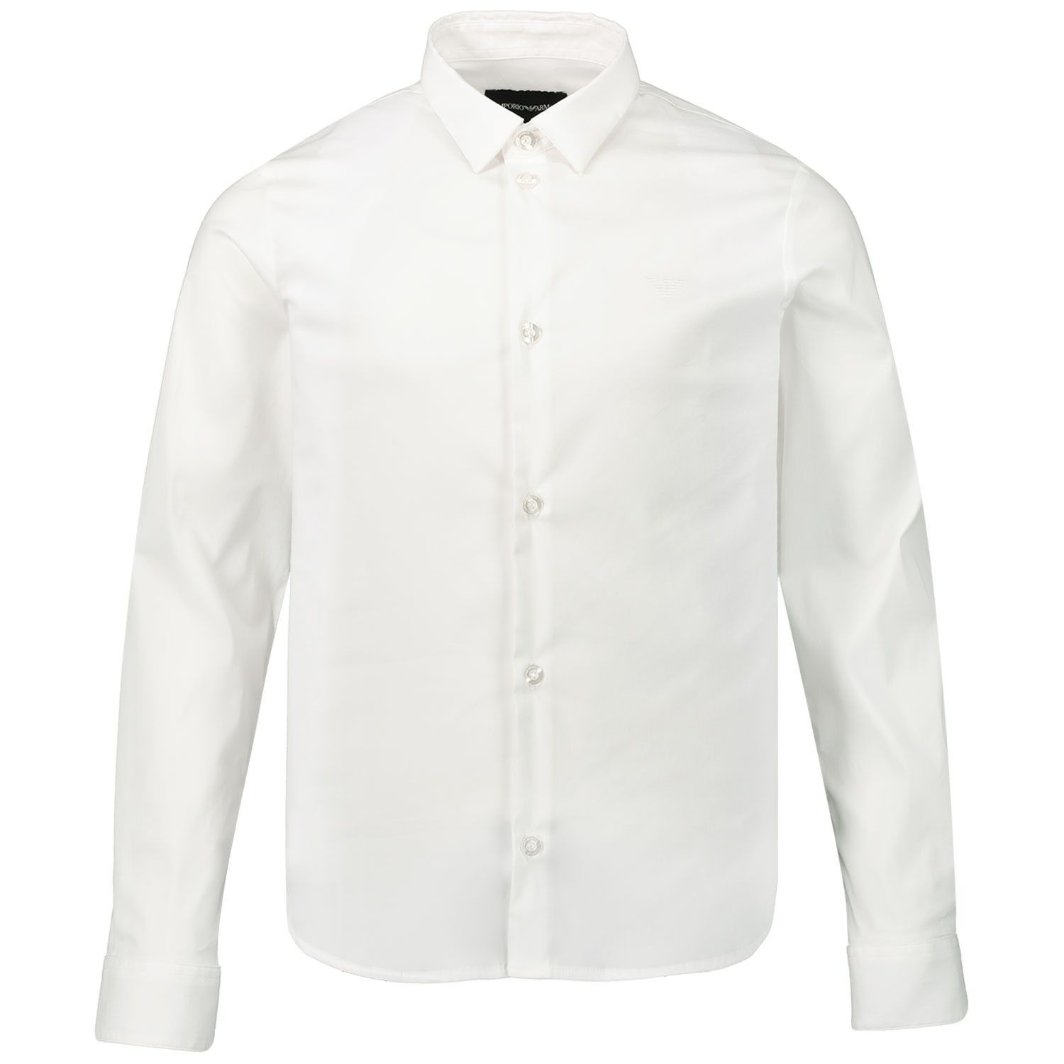 Picture of Armani 8N4C09 kinder overhemd white
