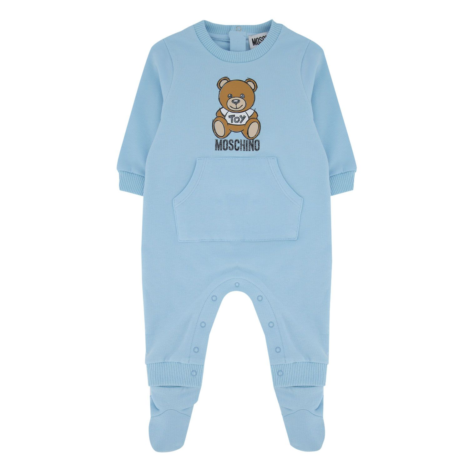 Picture of Moschino MUT01M baby playsuit light blue