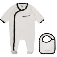 Picture of Karl Lagerfeld Z98085 baby playsuit white