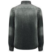 Picture of Antony Morato MMSL00570W01244 mens blouse black