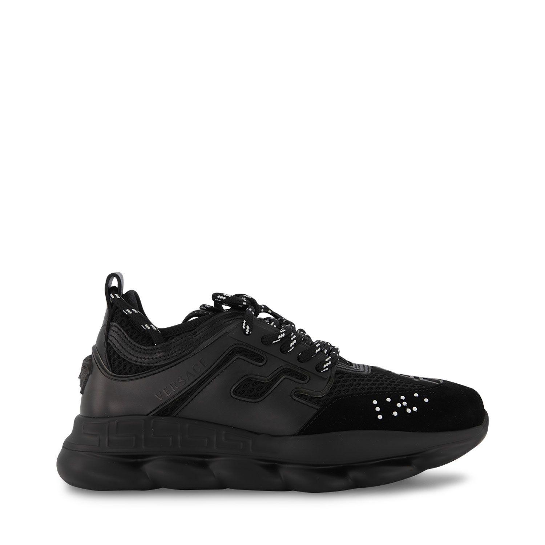 Picture of Versace YHX00001 YB00365 kids sneakers black