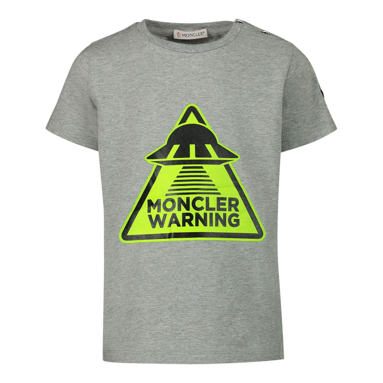 Afbeelding van Moncler 8C70120 baby t-shirt grijs