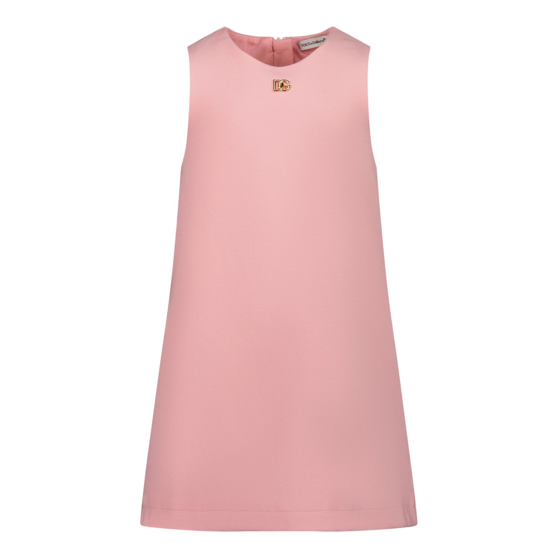 Picture of Dolce & Gabbana L2JDZ2 G7BKH baby dress light pink