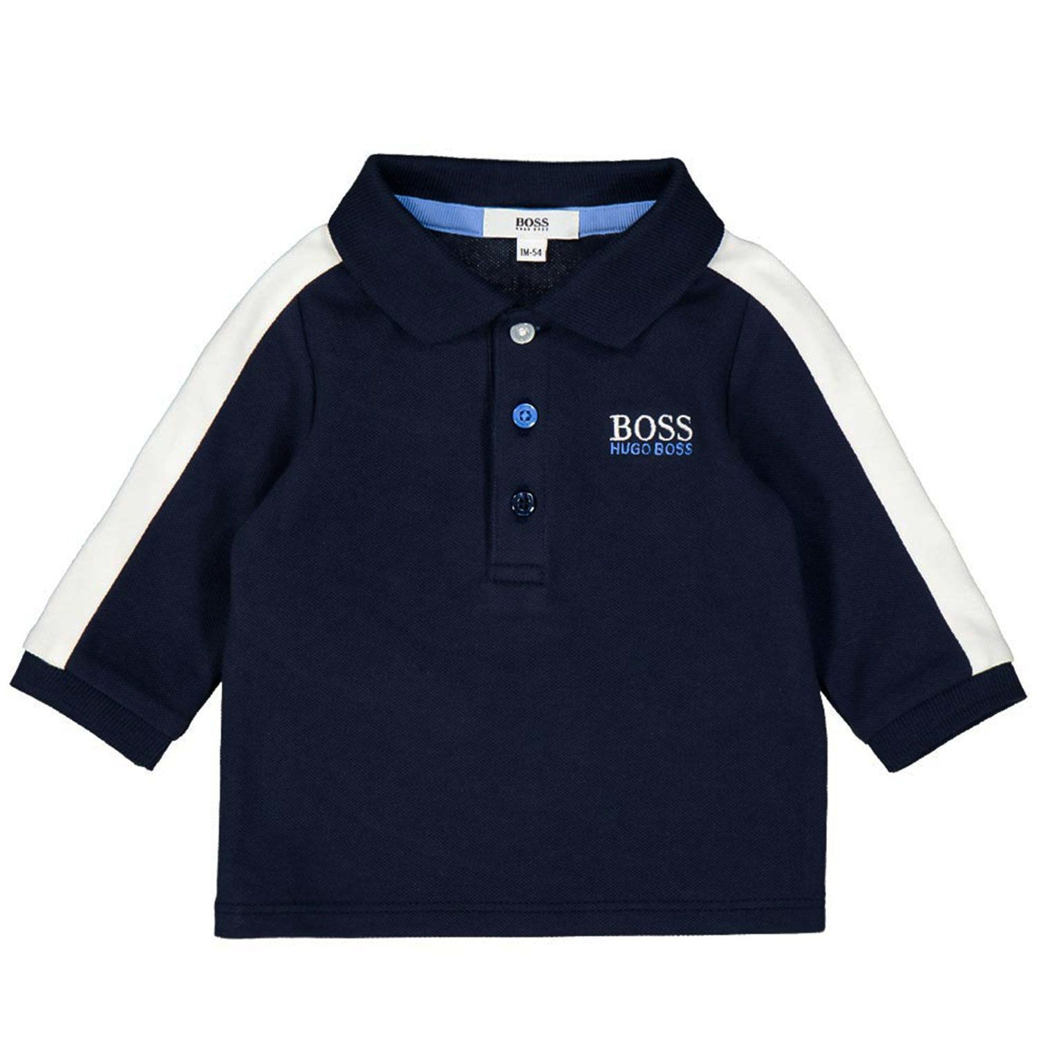 Picture of Boss J95294 baby poloshirt navy