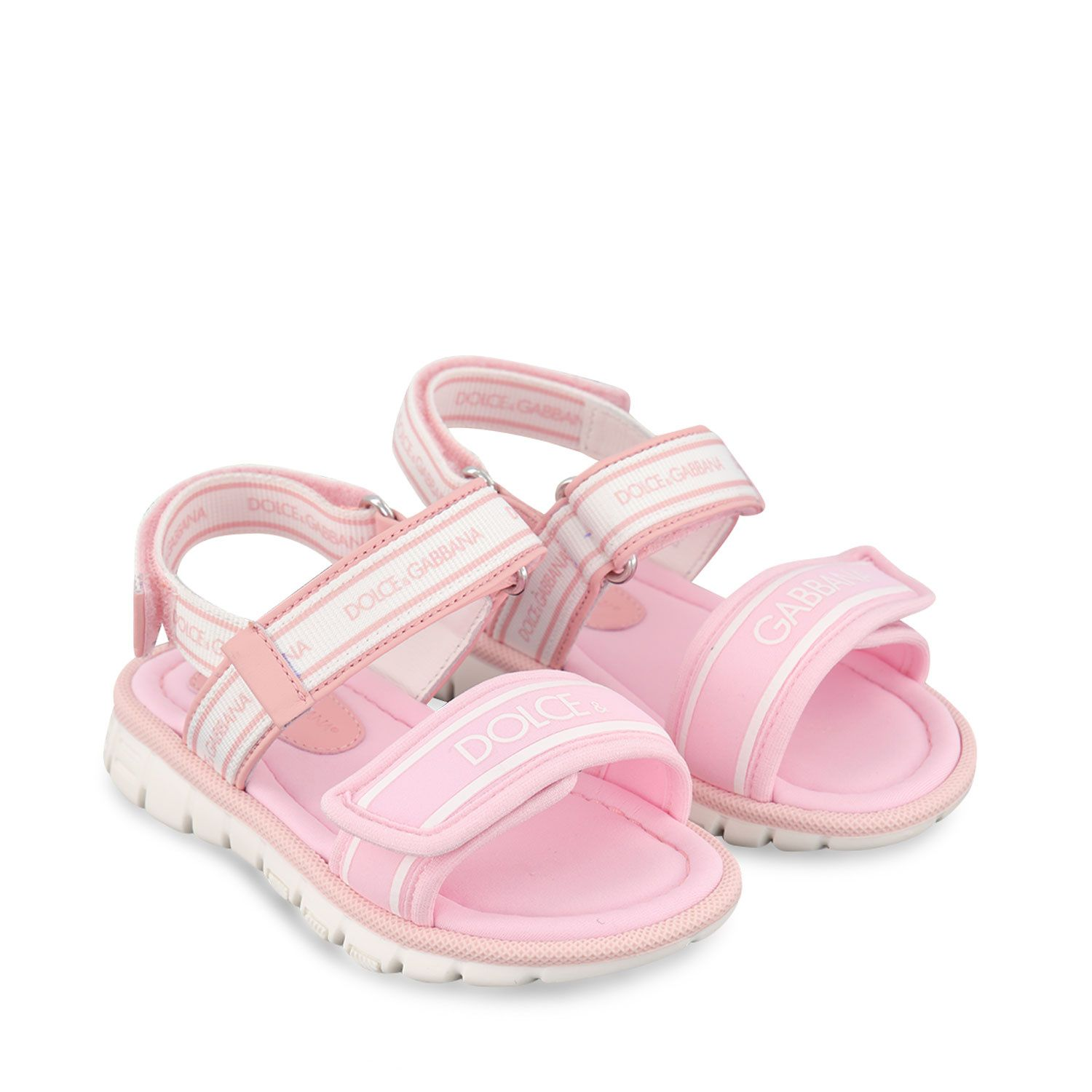 Picture of Dolce & Gabbana DL0066 AO260 kids sandals light pink