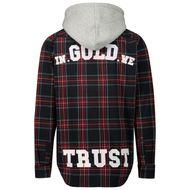 Afbeelding van In Gold We Trust wk0011080134 kinder overhemd rood/blauw