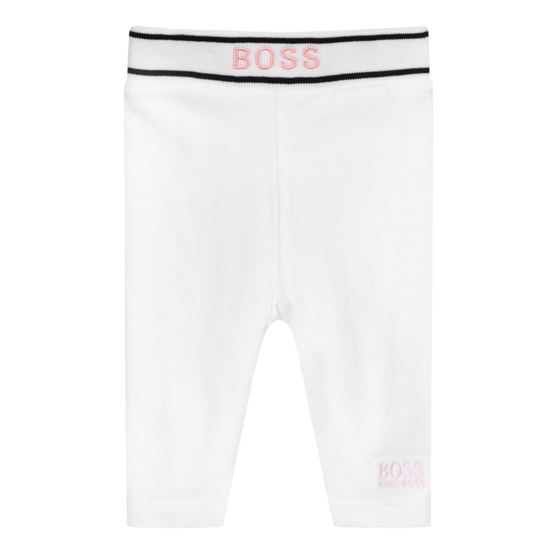 Afbeelding van Boss J94298 baby legging wit