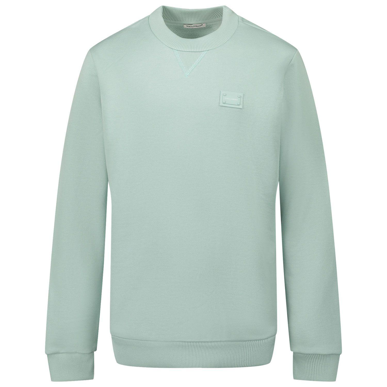 Picture of Dolce & Gabbana L4JW7H G7OLJ kids sweater mint