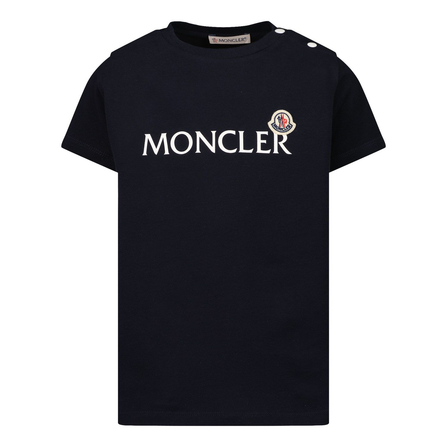 Picture of Moncler 8C73820 baby shirt navy