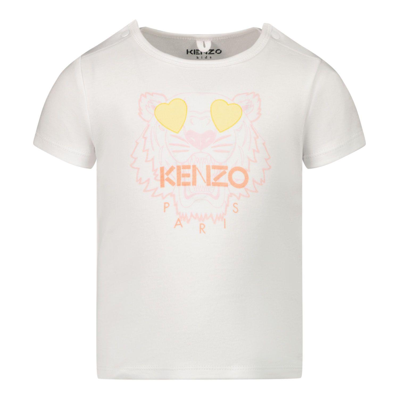 Bild von Kenzo K95006 Baby-T-Shirt Weiß