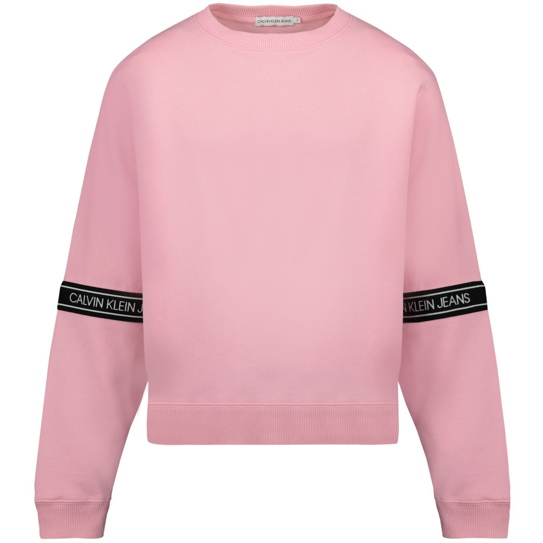 Afbeelding van Calvin Klein IG0IG00580 kindertrui licht roze