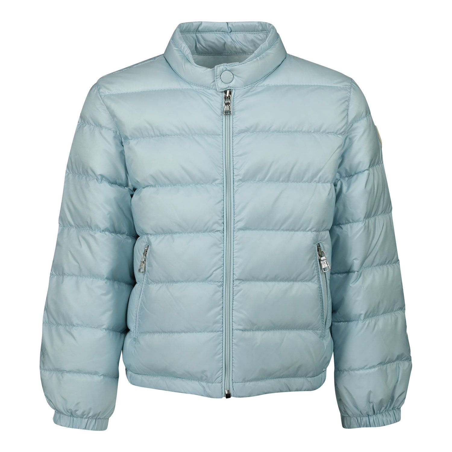 Picture of Moncler 1A10400 baby coat light blue
