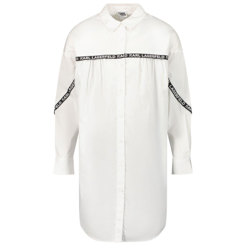 Picture of Karl Lagerfeld Z12197 kids dress white