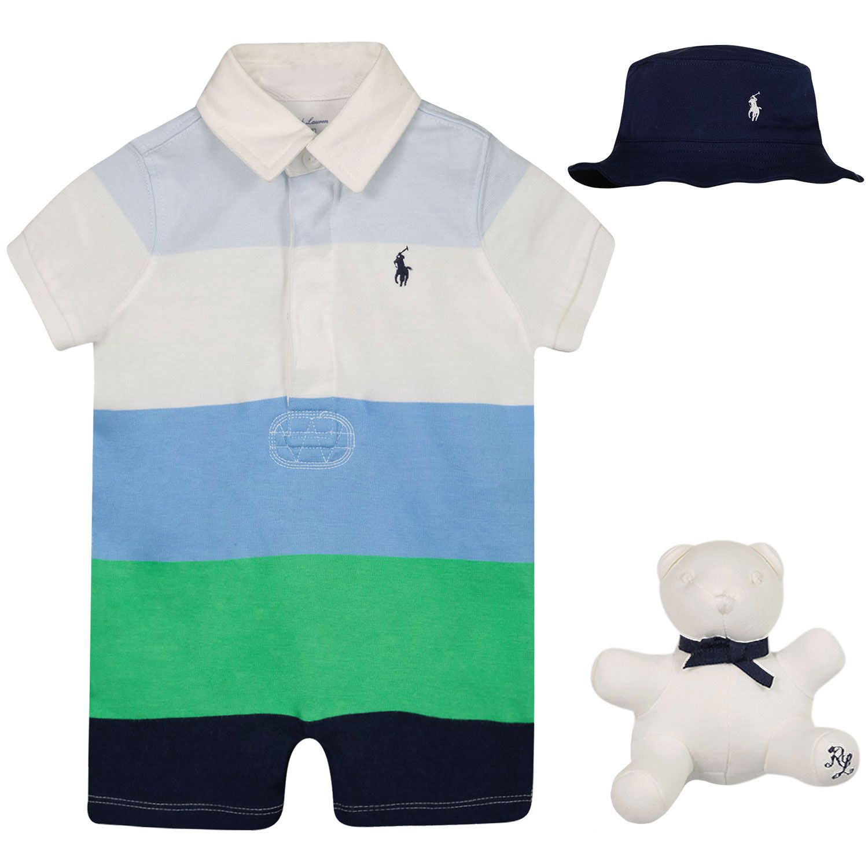 Picture of Ralph Lauren 320790382 baby set light blue