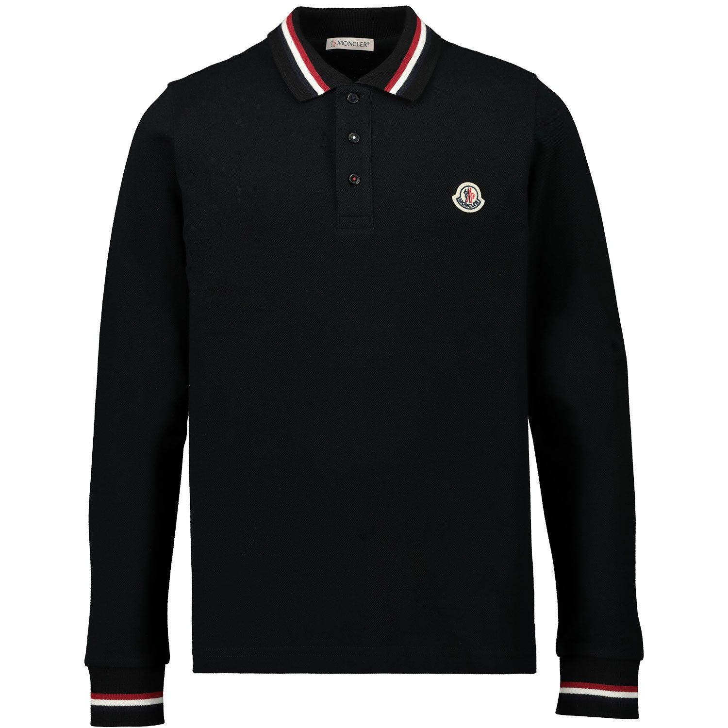 Picture of Moncler 8B70220 kids polo shirt black