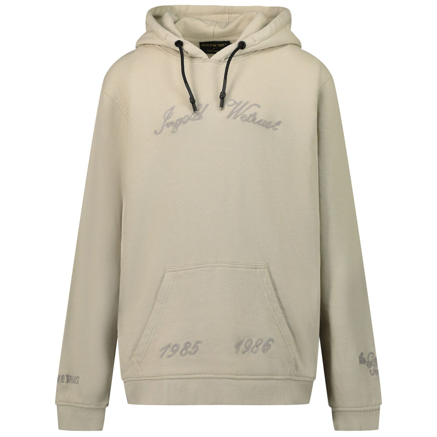 Picture of in Gold We Trust CHAIN EMBROIDERY HOODIE kids sweater light beige