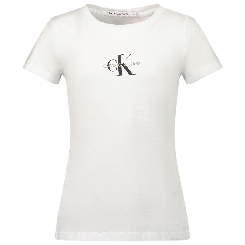 Picture of Calvin Klein IG0IG01221 kids t-shirt white
