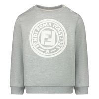 Picture of Fendi BMH067 baby sweater light gray
