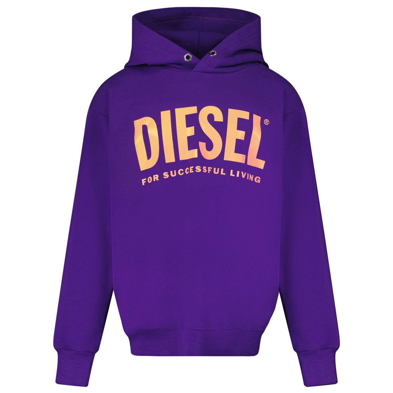 Picture of Diesel J00094 kids sweater purple