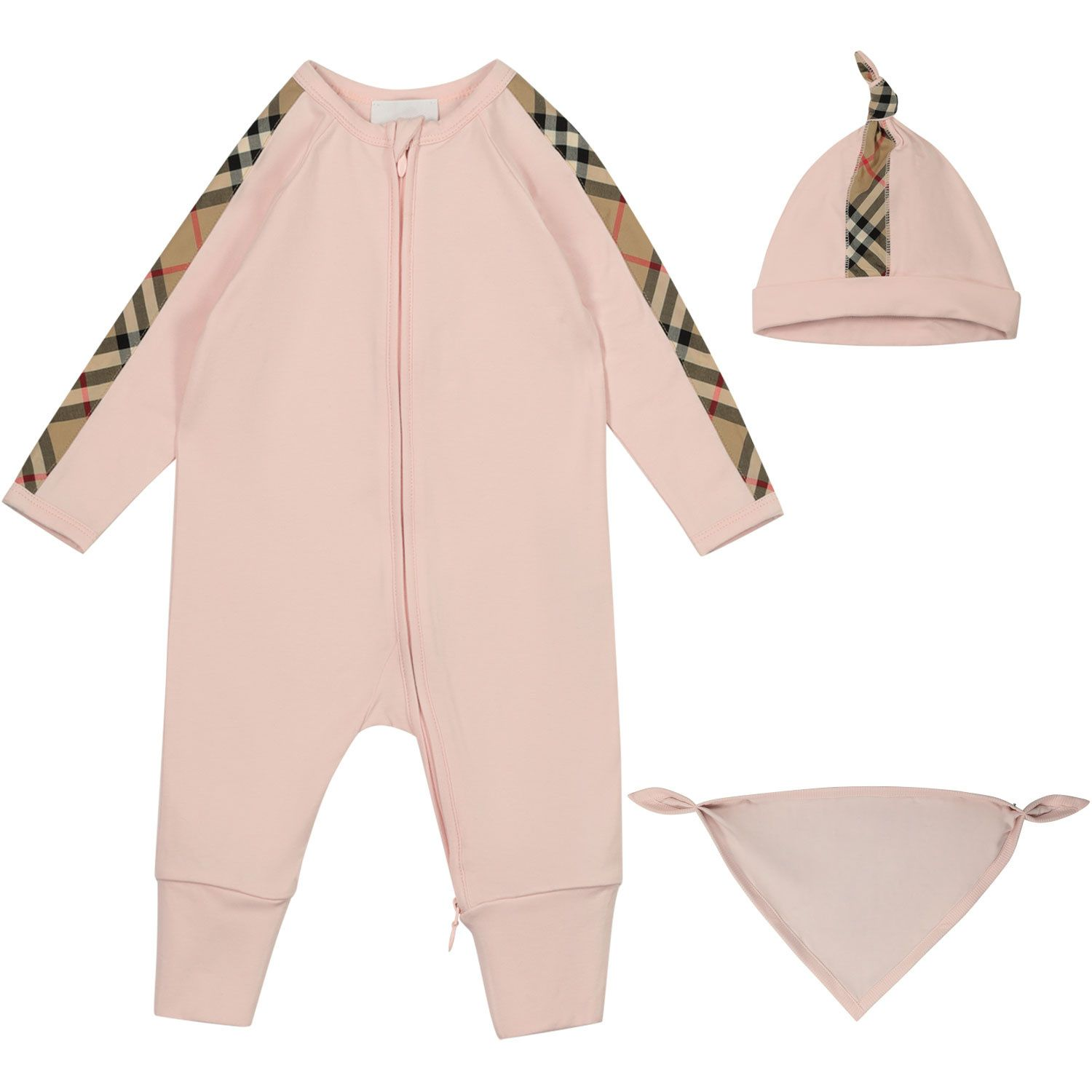 Picture of Burberry 8037121 baby playsuit light pink