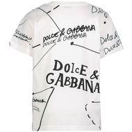 Afbeelding van Dolce & Gabbana L4JTBL/G7XDC kinder t-shirt wit