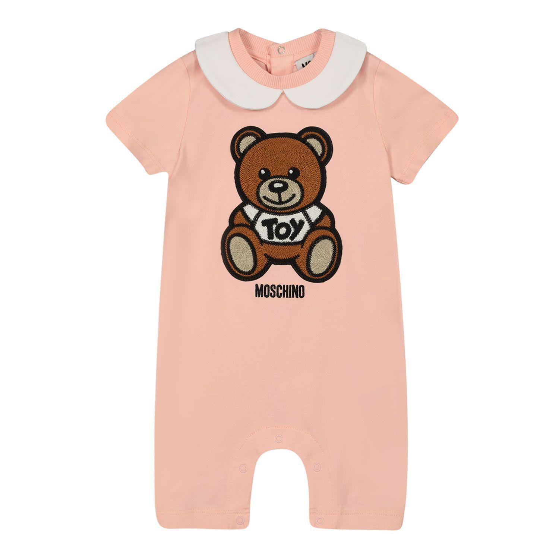 Bild von Moschino MMT01H Babystrampelanzug Hellrosa