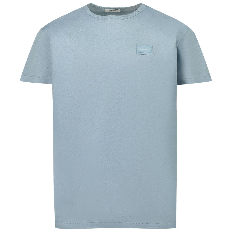 Afbeelding van Dolce & Gabbana L4JT7T G7OLK kinder t-shirt licht blauw