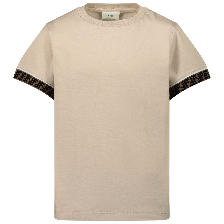 Picture of Fendi JUI018 kids t-shirt beige