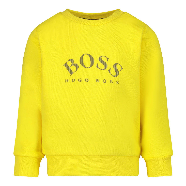 Afbeelding van Boss J05860 baby trui geel