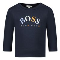 Picture of Boss J95292 baby shirt navy