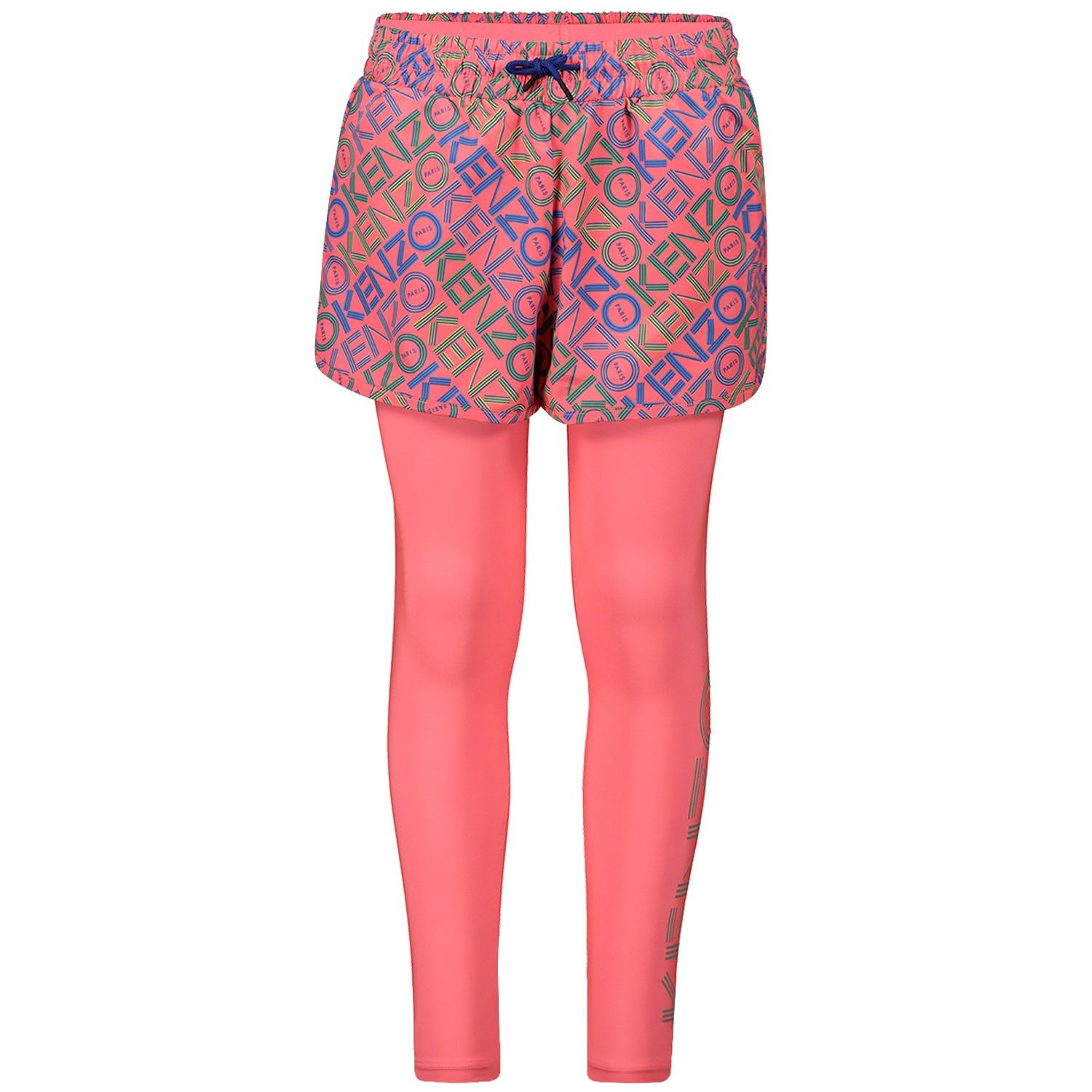 Picture of Kenzo KP24088 kids tights fluoro pink