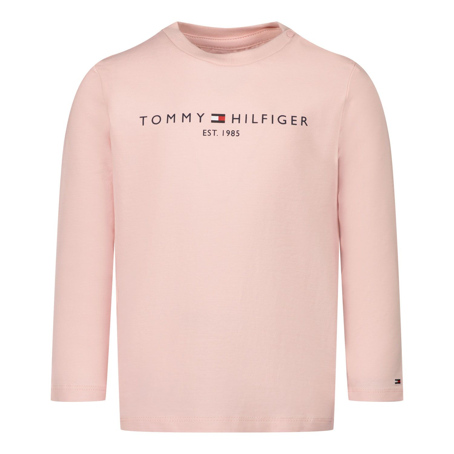 Picture of Tommy Hilfiger KN0KN01249 baby shirt light pink