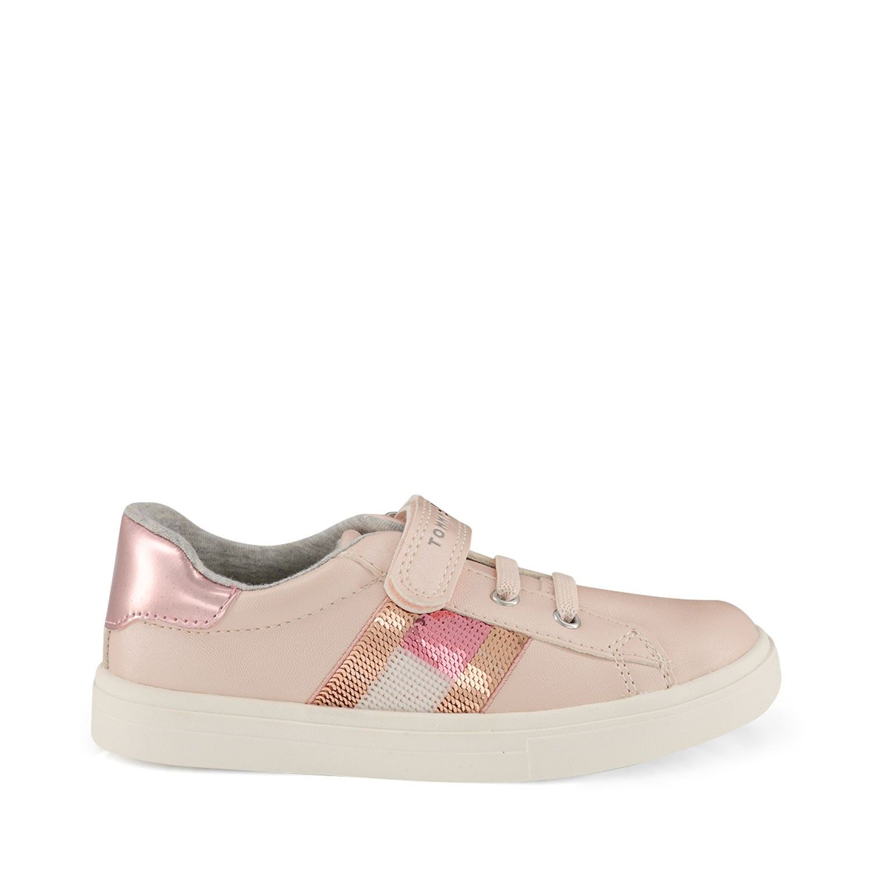 Afbeelding van Tommy Hilfiger 30609 kindersneakers licht roze