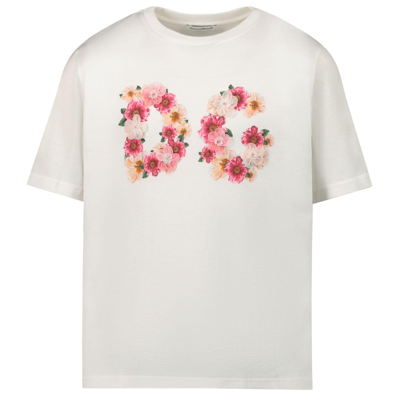 Picture of Dolce & Gabbana L5JTAZ/G7XMC kids t-shirt off white